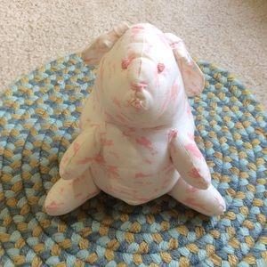 Vintage Bedding - Little Pink White Bunny Rabbit Stuffed Animal
